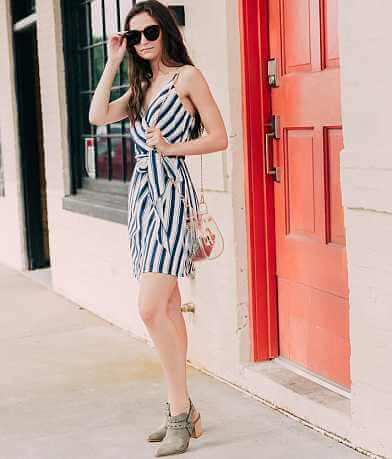 Essue Striped Wrap Dress