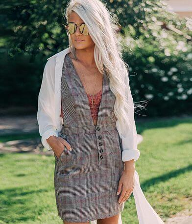 Essue Woven Plaid Dress