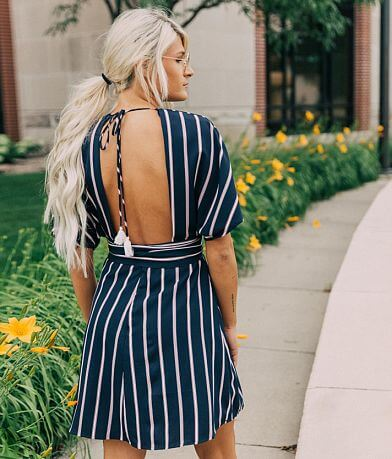 Willow & Root Woven Striped Dress