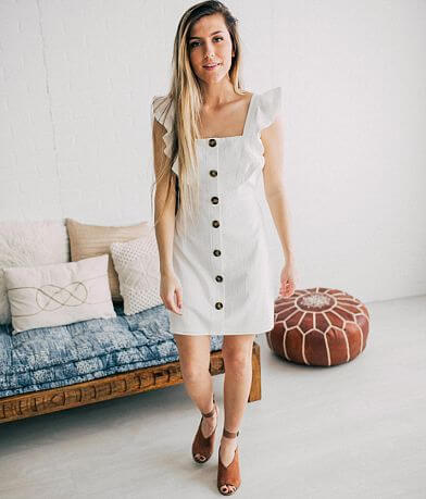 Willow & Root Fitted Button Down Dress