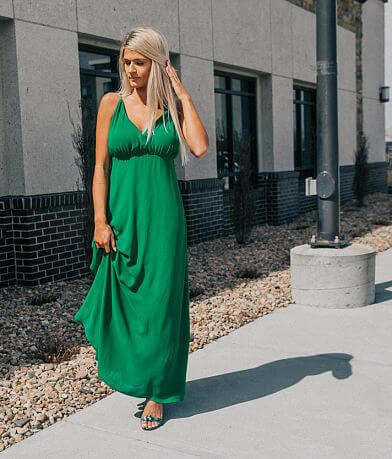 Essue Surplice Maxi Dress