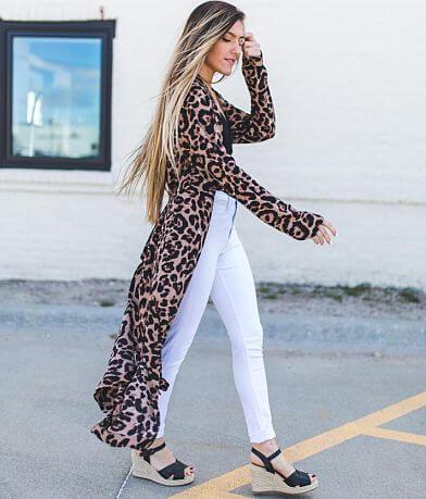 Essue Leopard Print Kimono
