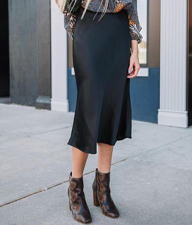 Essue Satin Midi Skirt