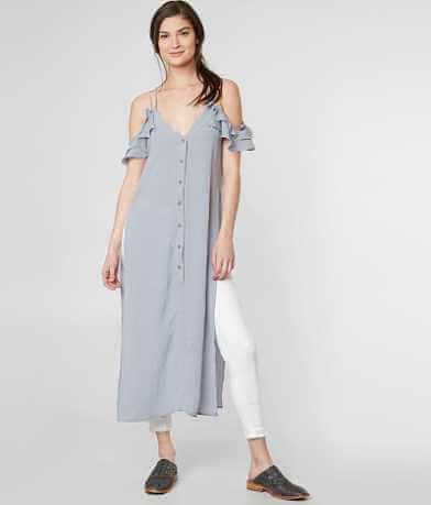Essue Cold Shoulder Maxi Top