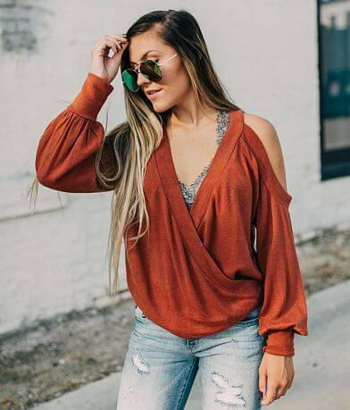 willow & root Cold Shoulder Sweater