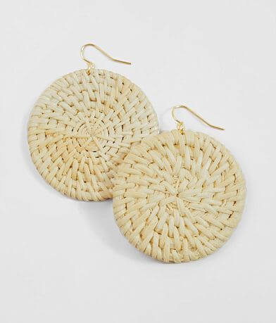 BKE Weaved Circle Earring