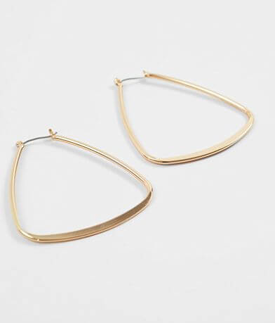 BKE Triangle Hoop Earring