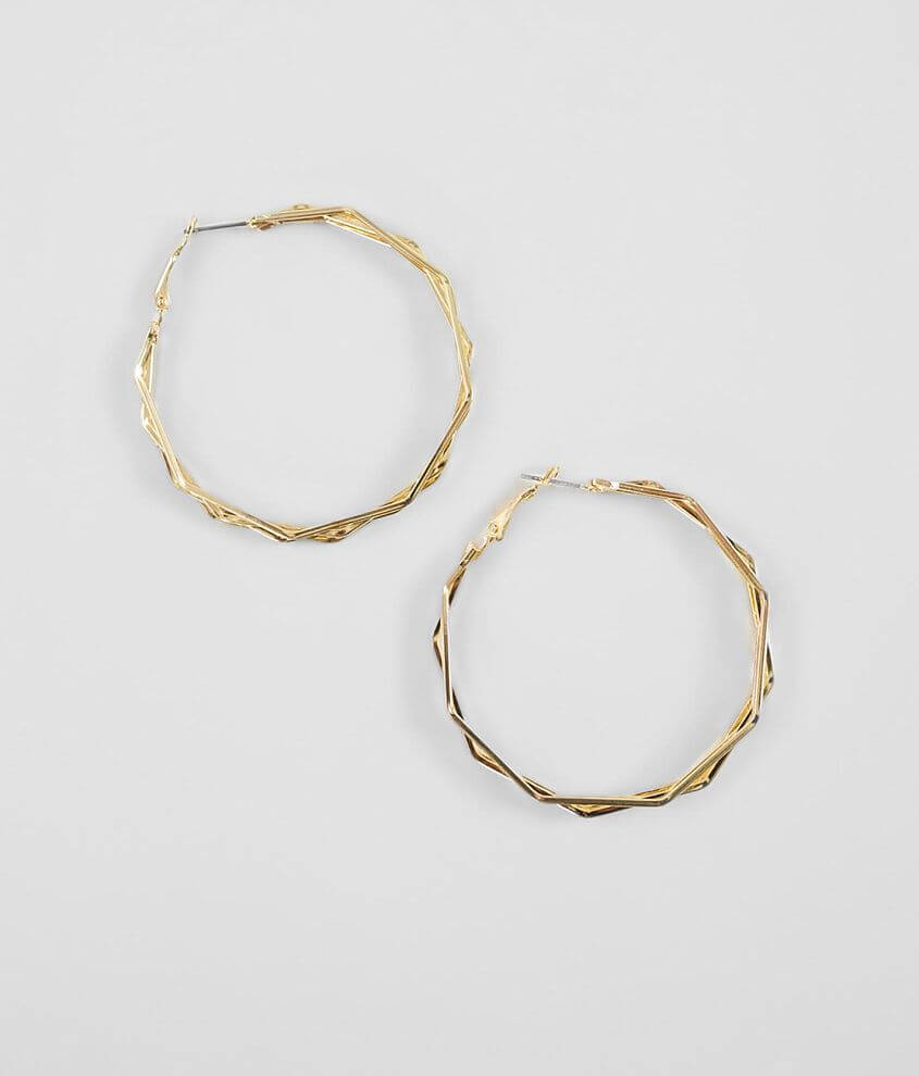 BKE Angled Hoop Earring