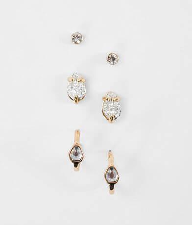 BKE Glitz & Stone Earring Set