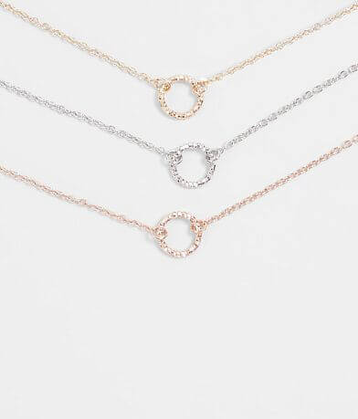 BKE Dainty Pendant Necklace Set