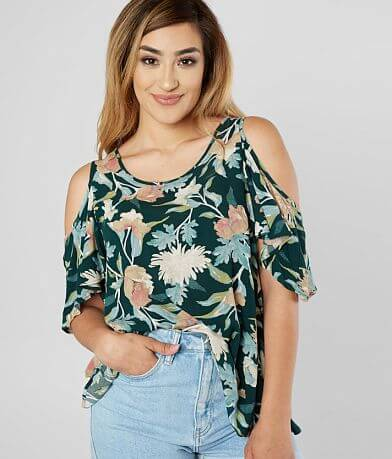 Daytrip Floral Cold Shoulder Top