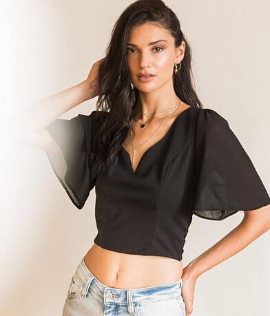 grehy Sweetheart Cropped Top