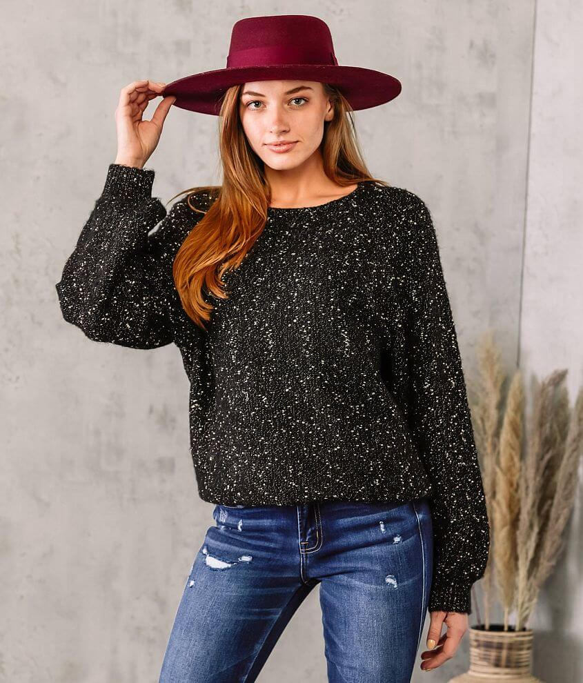 Willow & Root Marled Metallic Knit Sweater front view