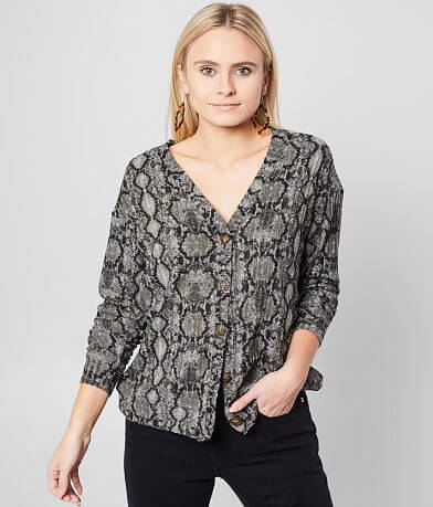Daytrip Snake Print Top