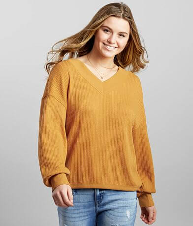 BKE Pointelle Ribbed Top