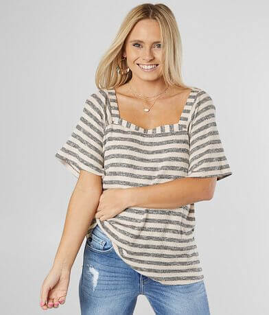 Daytrip Square Neck Knit Top
