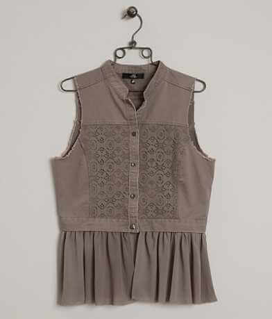 BKE Boutique Raw Edge Vest