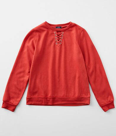 Girls - Daytrip Lace-Up Knit Pullover