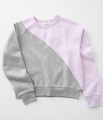 Girls - BKE Color Block Pullover Sweatshirt