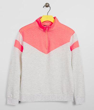 Girls - Daytrip Quarter Zip Color Block Pullover