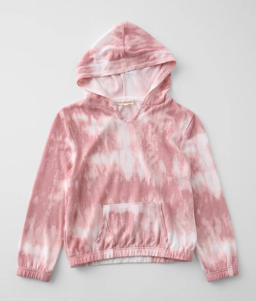 Girls - Inspired Hearts Tie Dye Hoodie front view