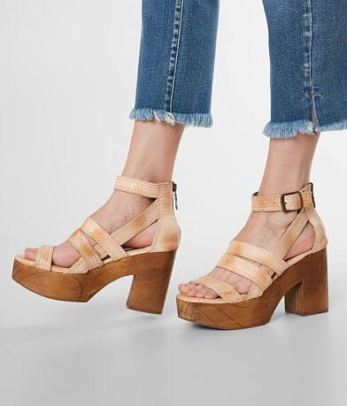 Roan Corey Leather Heeled Platform Sandal