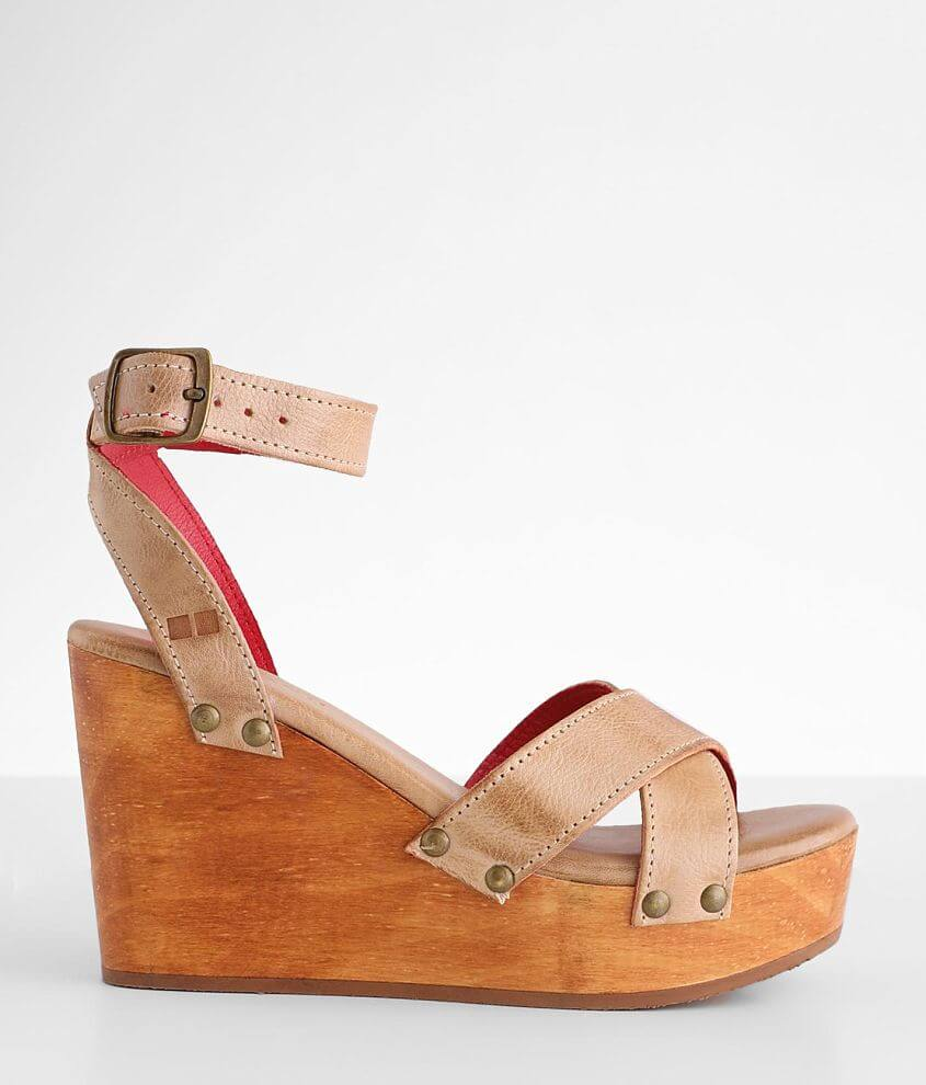 Bed Stu Grettell Leather Wedge Sandal front view
