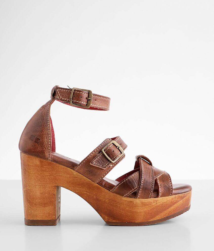 Bed Stu Alba Leather Heeled Sandal front view