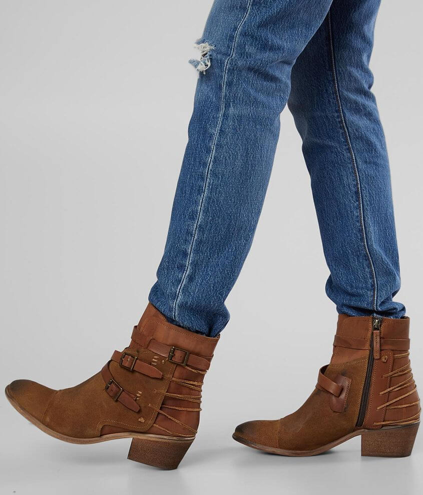 tan leather mid calf boot by BEDSTU