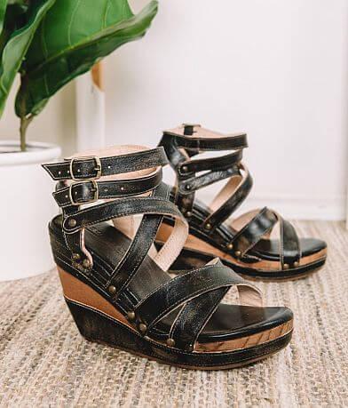 9d4581165261a Bed Stu Juliana Leather Wedge Heeled Sandal