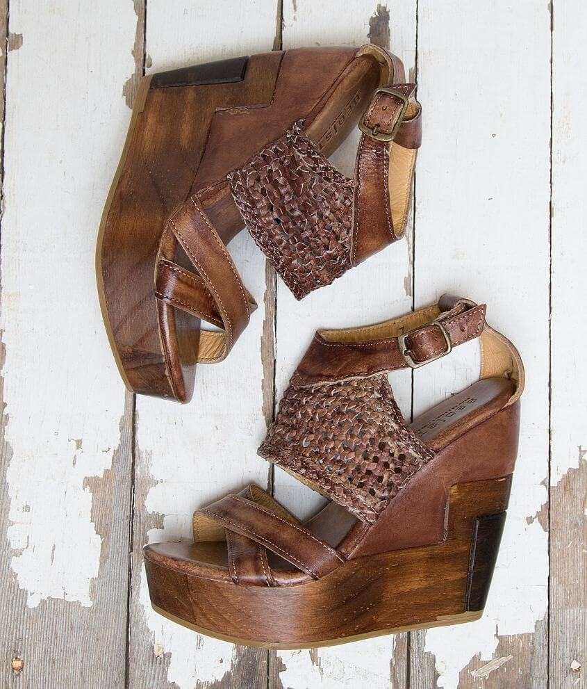 bb6361a17d8 Bed Stu Petra Leather Wedge Sandal - Women s Shoes in Teak Driftwood ...