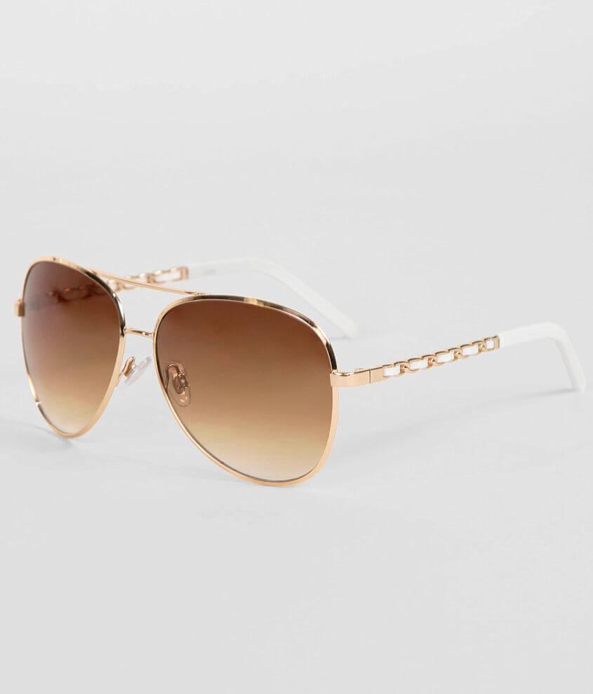 BKE Lamb Aviator Sunglasses front view