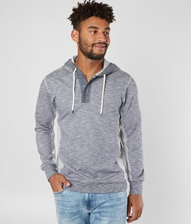 BKE Heathered Henley Sweatshirt