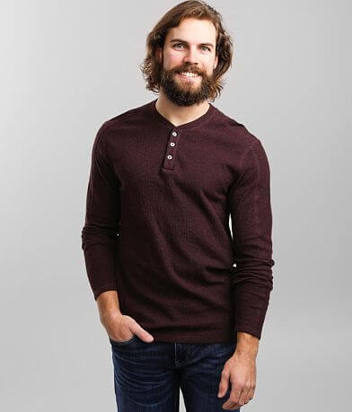 BKE Micro Ribbed Knit Henley