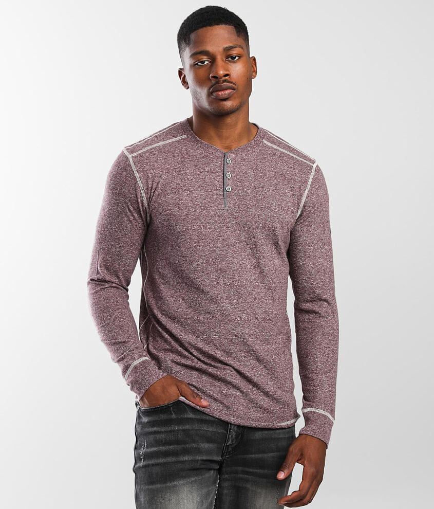 BKE Knit Henley front view