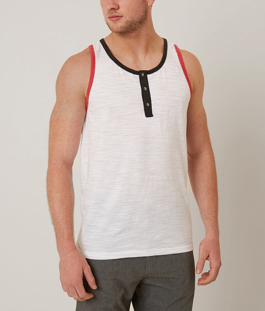 henley tank top mens