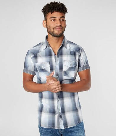 BKE Plaid Tailored Stretch Shirt