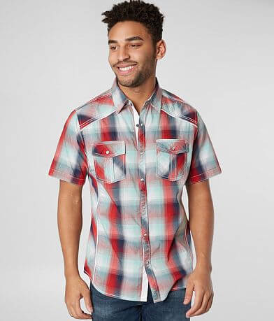 BKE Plaid Standard Stretch Shirt