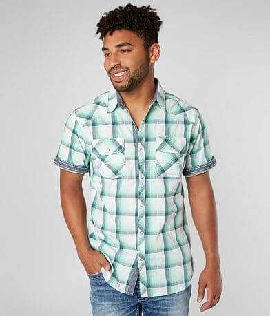 BKE Plaid Athletic Fit Stretch Shirt