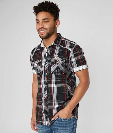 BKE Plaid Athletic Stretch Shirt