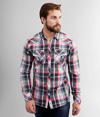 BKE Neon Plaid Athletic Shirt