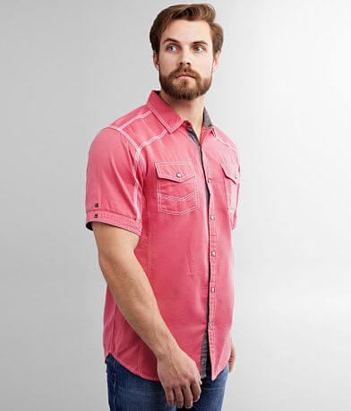 BKE Embroidered Jacquard Athletic Shirt