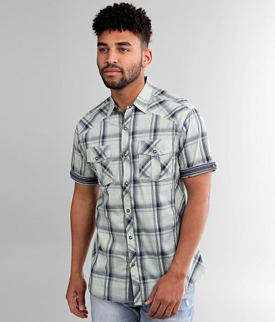 BKE Plaid Athletic Stretch Shirt
