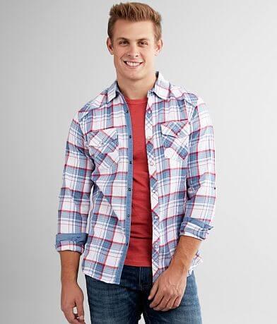 BKE Plaid Standard Woven Shirt