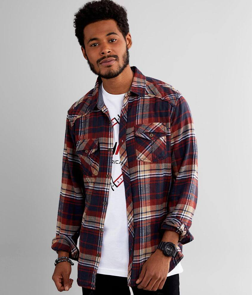 BKE Flannel Athletic Shirt front view