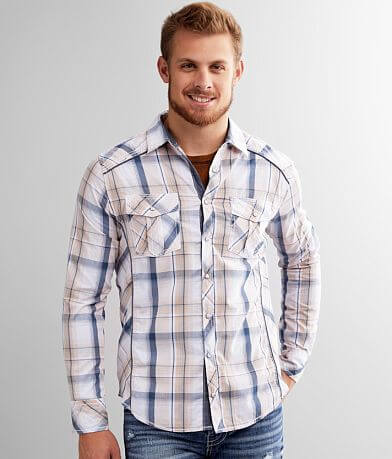 BKE Plaid Tailored Shirt