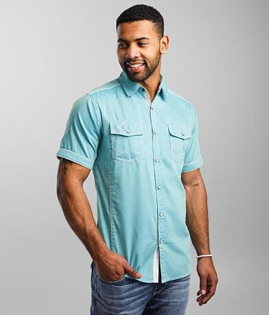 BKE Textured Woven Athletic Shirt