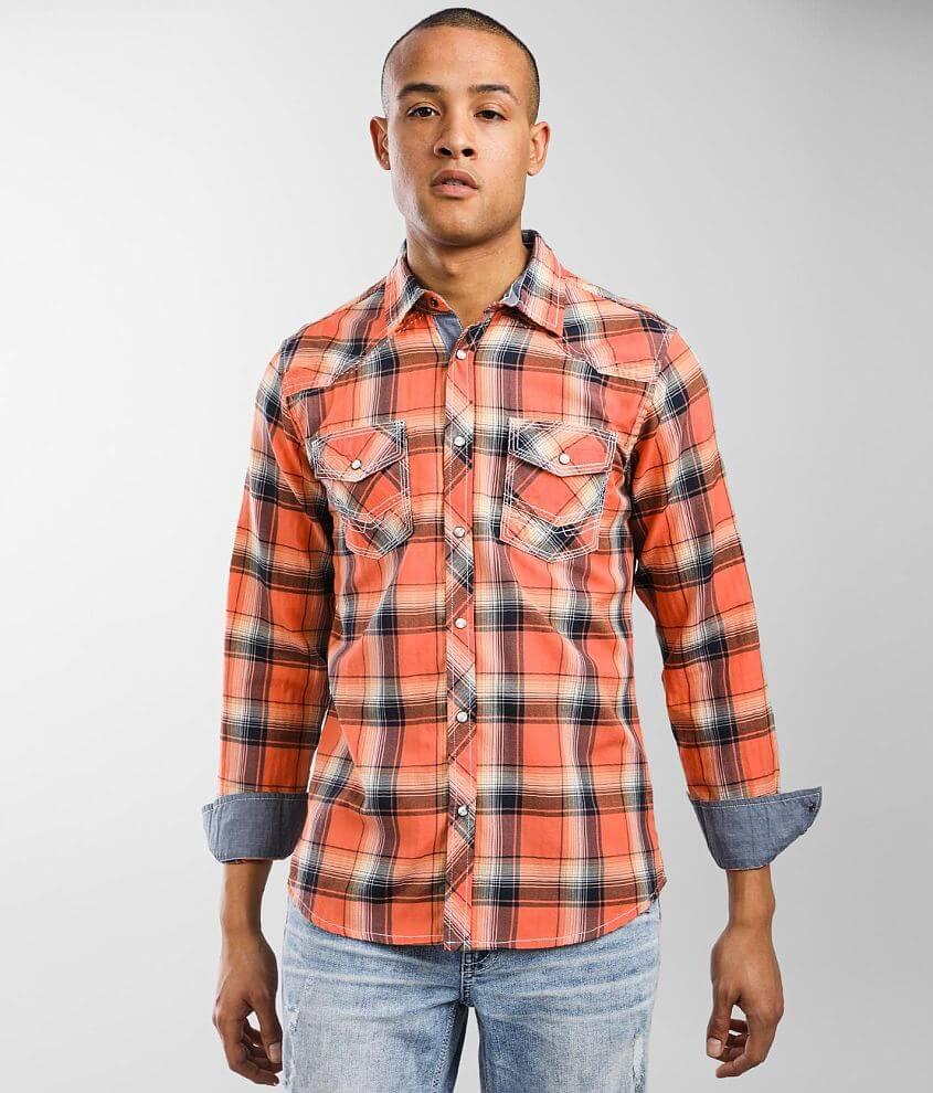 BKE Plaid Standard Shirt front view