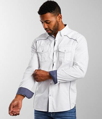 BKE Textured Athletic Stretch Shirt