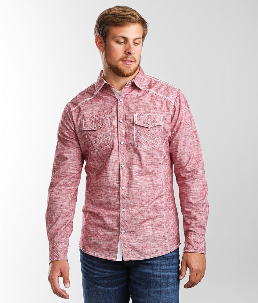 BKE Marl Tailored Shirt front view